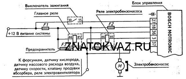 схема подключения бензонасоса ваз 2107 инжектор