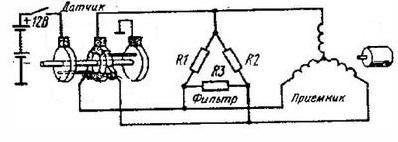 схема электромеханического спидометра