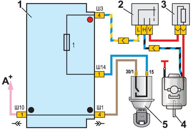 подключение вентилятора печки ваз 2107