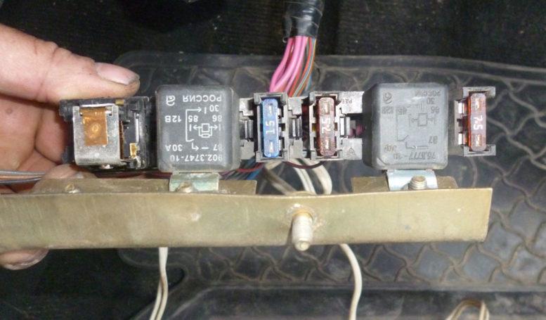 реле вентилятора ваз 2107 инжектор